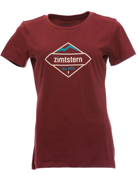Zimtstern TSW Sanizza T-Shirt Women Maroon